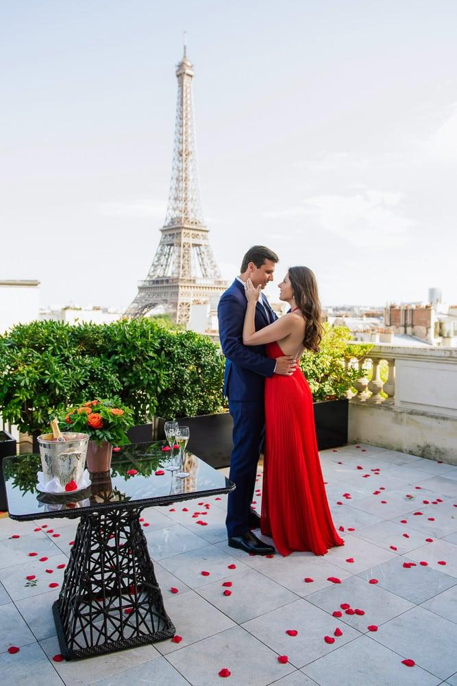 rooftop proposal paris at Shangri La