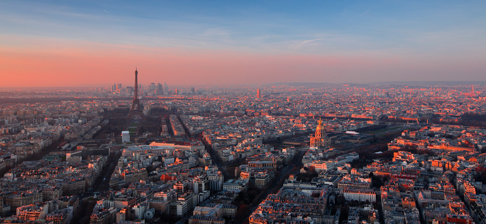 Honeymooning in Paris - Paris at sunset