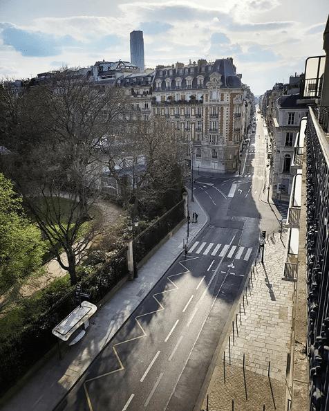 Empty streets of Paris during the Coronavirus pandemic - April 2020