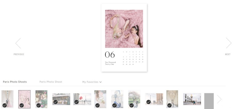 Select images for the gift calendar