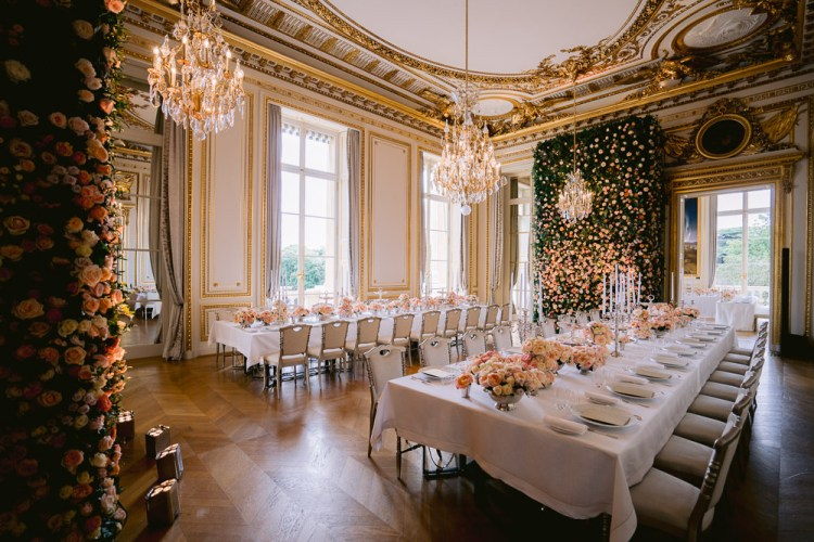 Luxury wedding decoration at Hotel de Crillon Paris