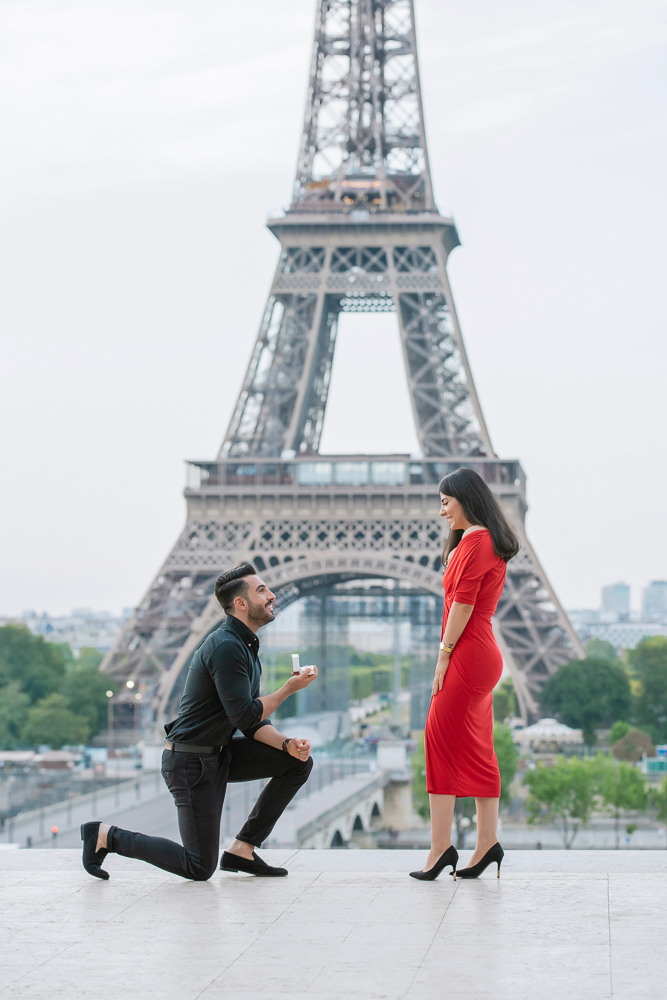 Eiffel Tower sunrise surprise proposal 12