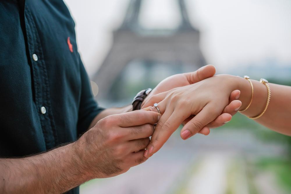 Eiffel Tower sunrise surprise proposal 15