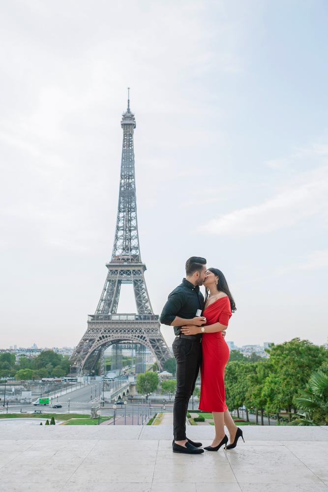 Eiffel Tower sunrise surprise proposal 18