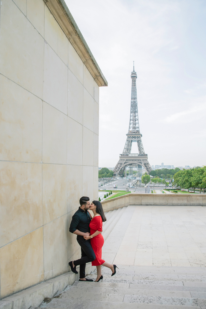 Eiffel Tower sunrise surprise proposal 20
