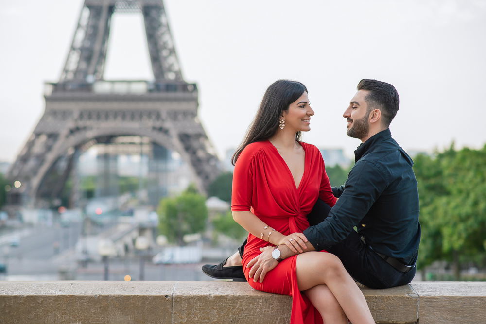 Eiffel Tower sunrise surprise proposal 26