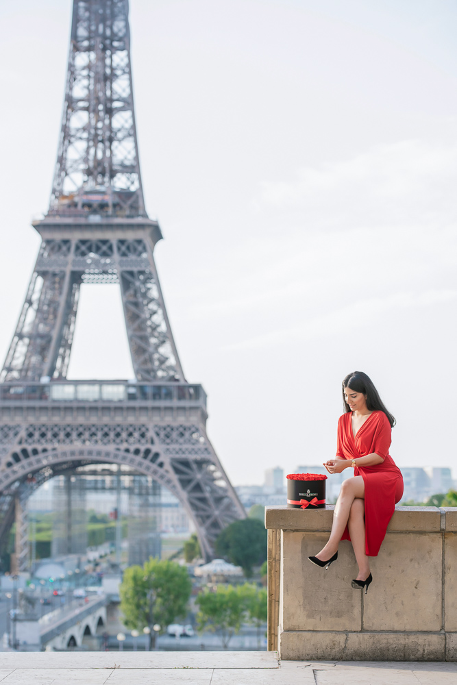 Eiffel Tower sunrise surprise proposal 29