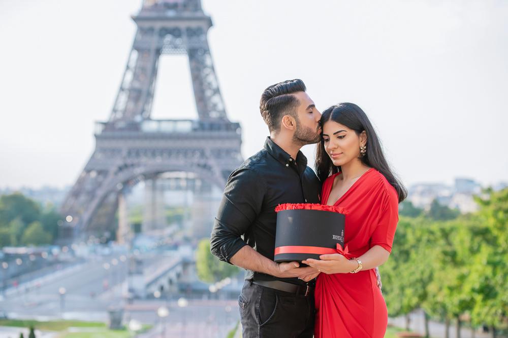 Eiffel Tower sunrise surprise proposal 31