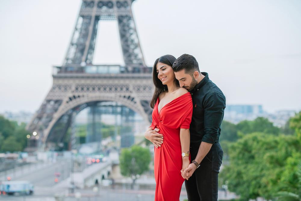 Eiffel Tower sunrise surprise proposal 9