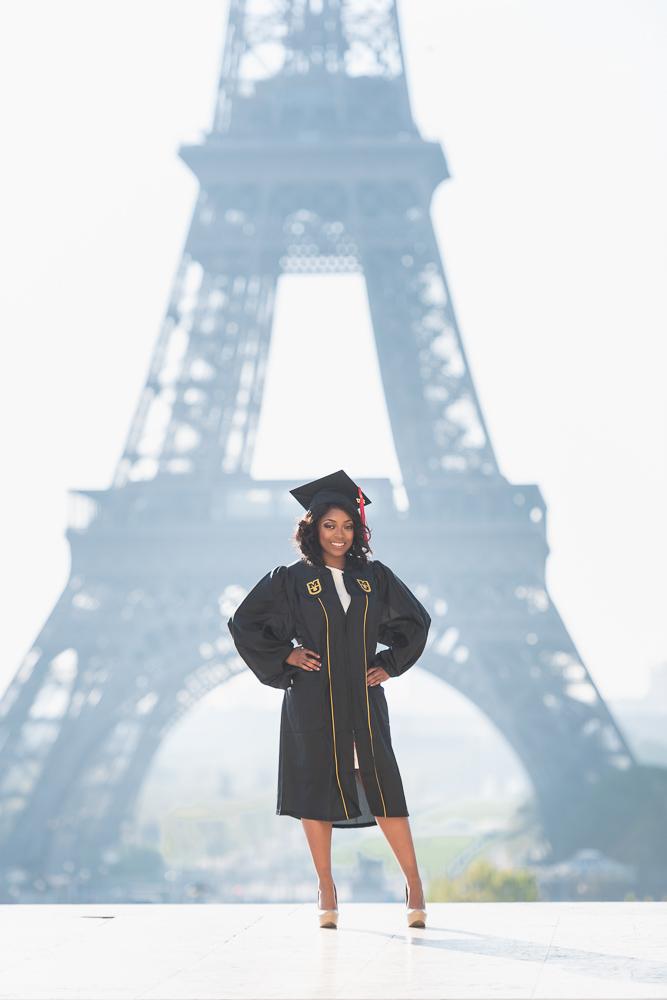 Graduation photos in Paris 6
