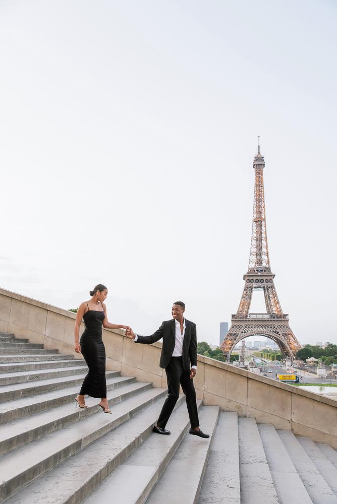 Proposal in Paris Eiffel Tower 11