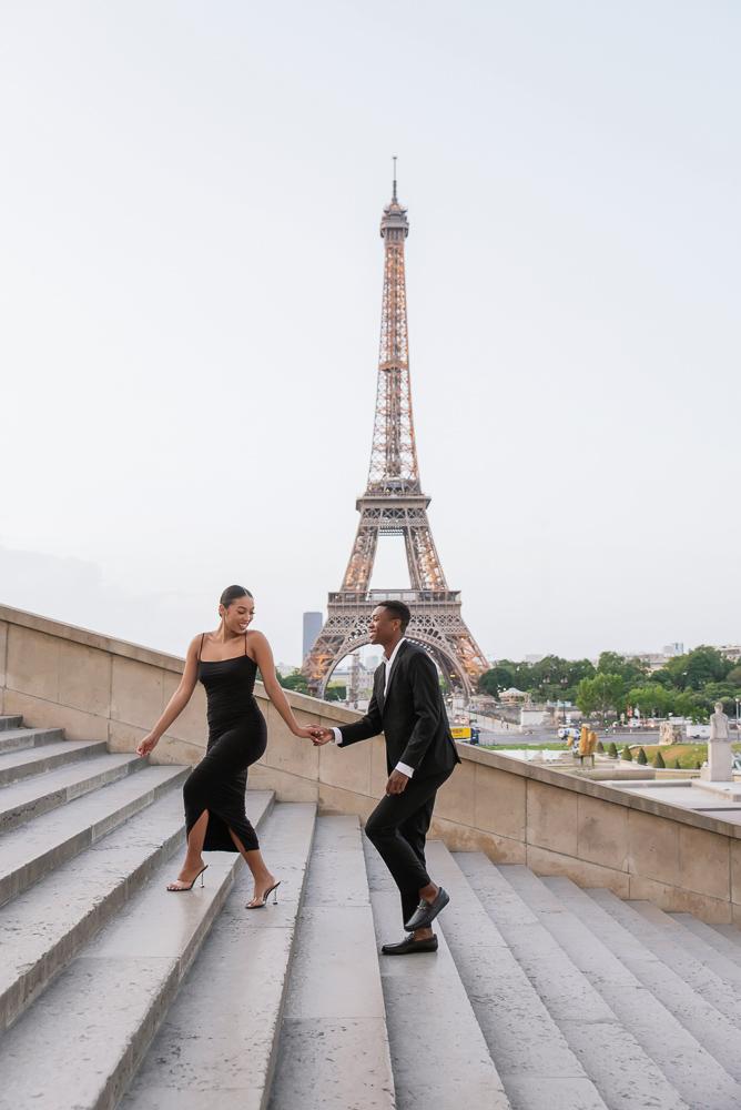 Proposal in Paris Eiffel Tower 12