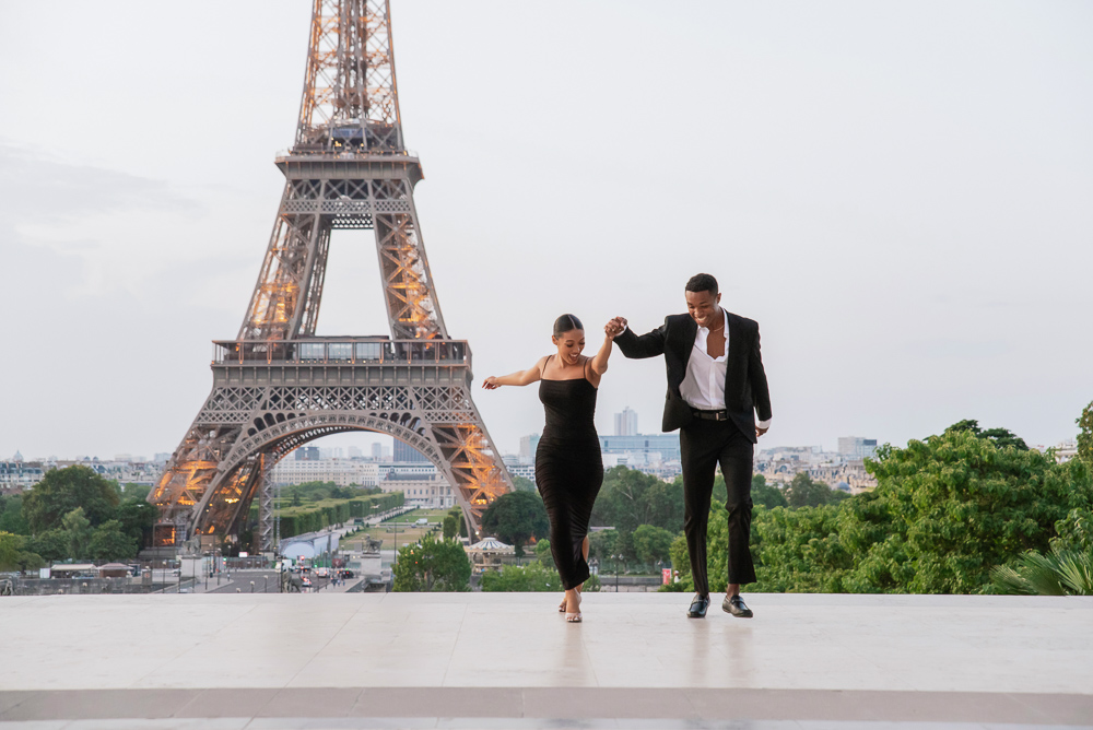 Proposal in Paris Eiffel Tower 5