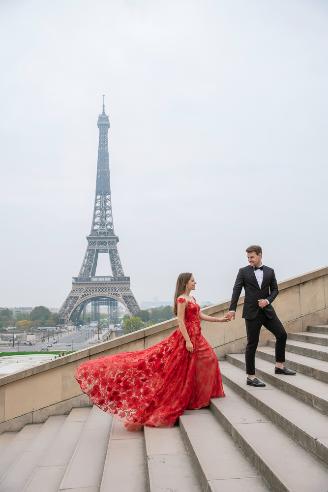 Winter wedding photoshoot in Paris by Pierre 21