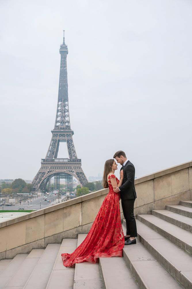 Winter wedding photoshoot in Paris by Pierre 23