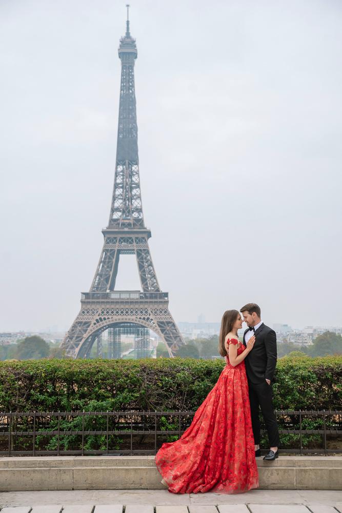 Winter wedding photoshoot in Paris by Pierre 25