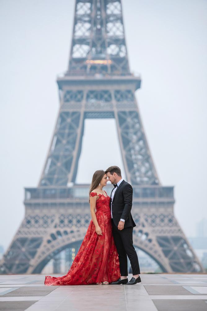 Winter wedding photoshoot in Paris by Pierre 3
