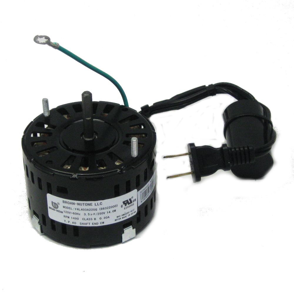 86322000 genuine nutone vent bathroom fan ventilator motor j