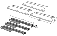 Costco Kirkland Gas Grill SKU681955 Heat Plate and Burner