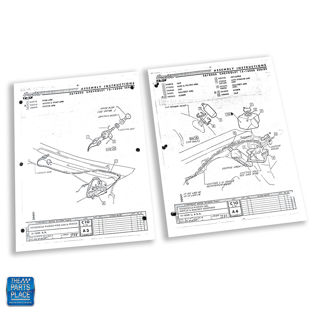 1966 66 Chevrolet Impala Bel Air Caprice Assembly Manual