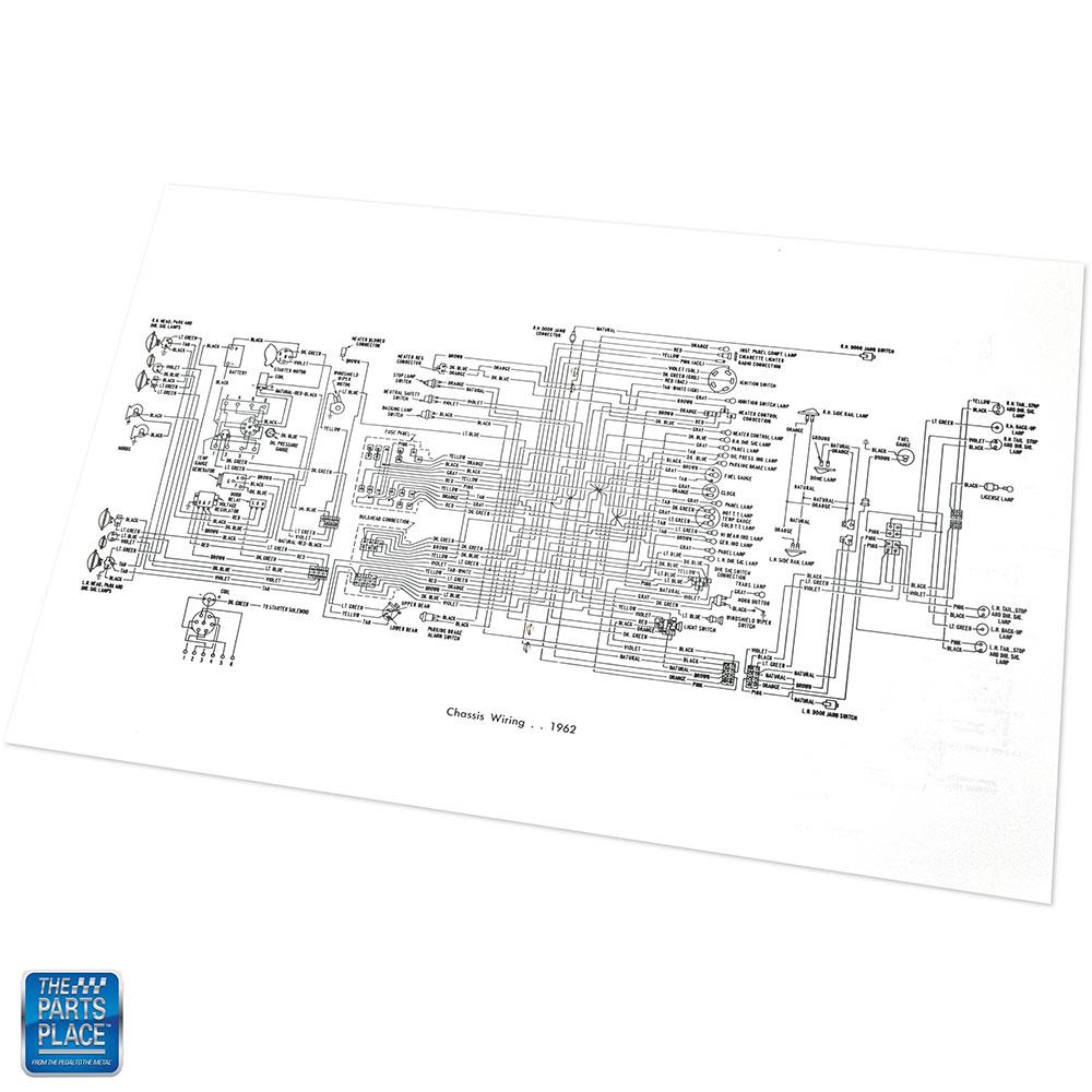 1962 Chevrolet Impala Bel Air Wiring Diagram Manual