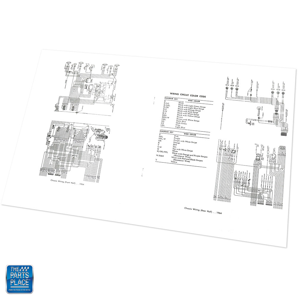 1964 Chevrolet Impala Bel Air Wiring Diagram Manual