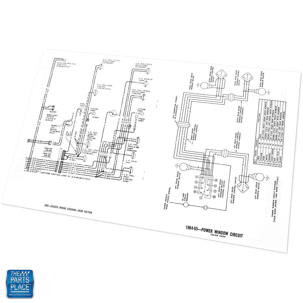 1965 Chevrolet Impala Bel Air Wiring Diagram Manual