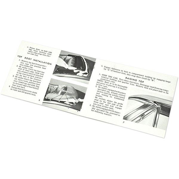 1968 Pontiac Firebird/TransAm GM CONVERTIBLE TOP MANUAL