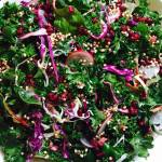 Kale Salad with Pomegranate Molasses Dressing