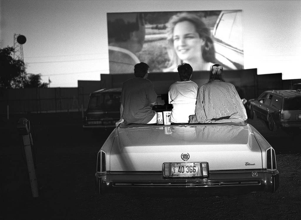 """A drive-in theatre in Twin Falls, Idaho. From """"America at the Edge."""" © Steve Simon"""