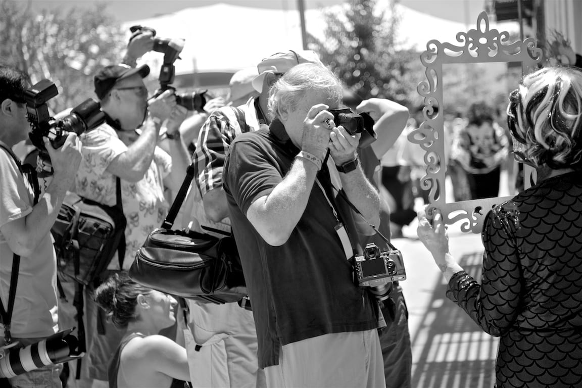 Cameras and photographers came in all shapes, ages and sizes at the Mermaid Parade.