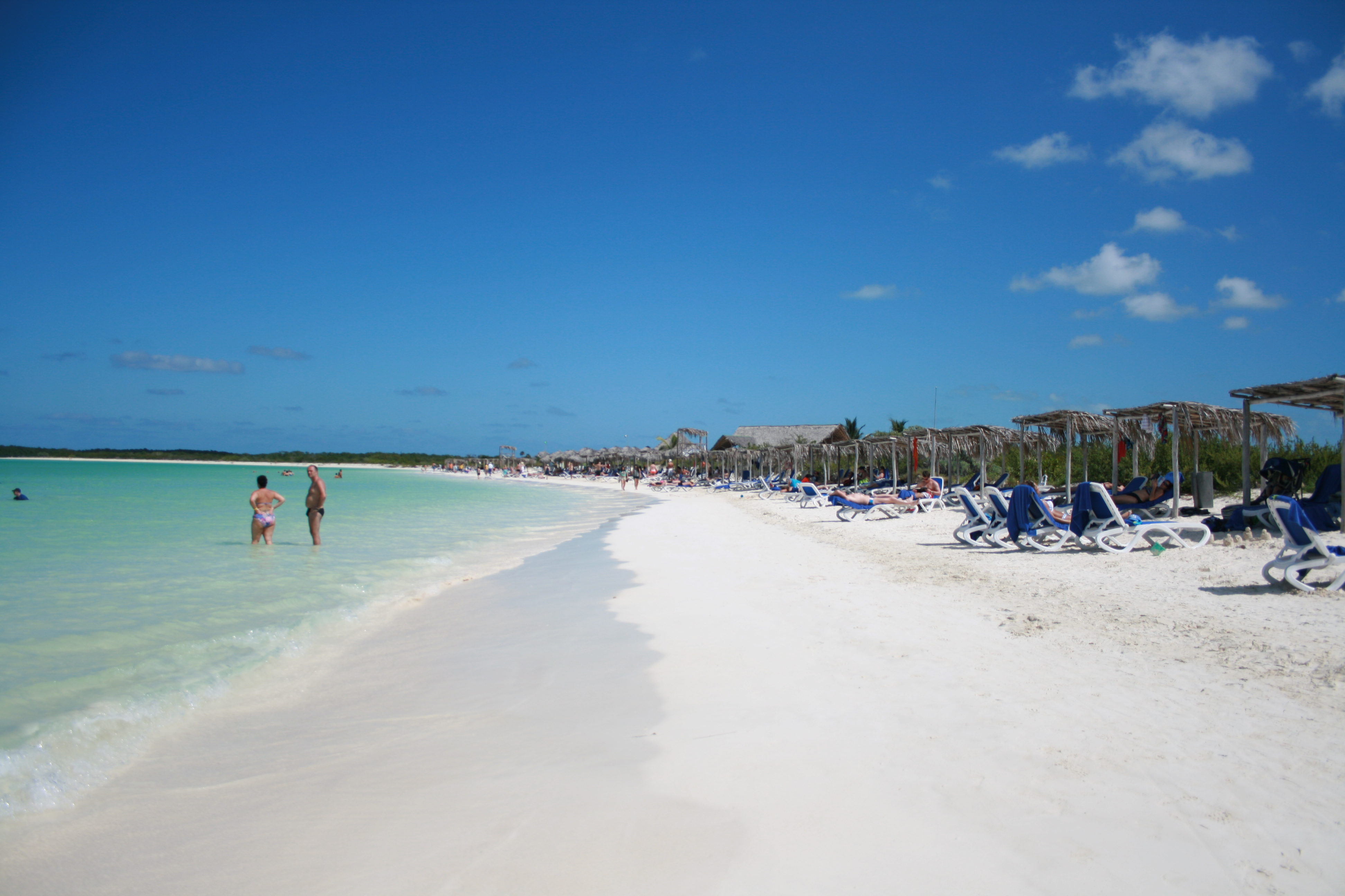 Sign designating Nude Beach - Picture of Sol Cayo Santa