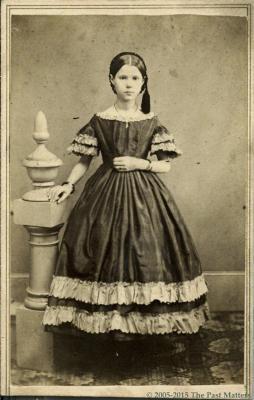Hattie A. Thompson about 1862