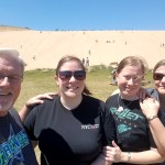 Climbing the Sleeping Bear Dunes on Vacation