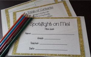 """Spotlight on Me"" Mini-book"