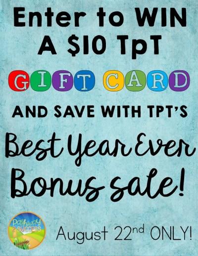 Win TpT Gift Card