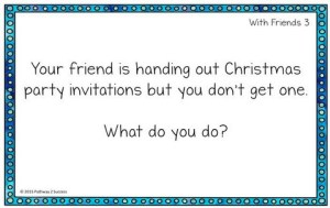 Social Skills Task Cards for WInter