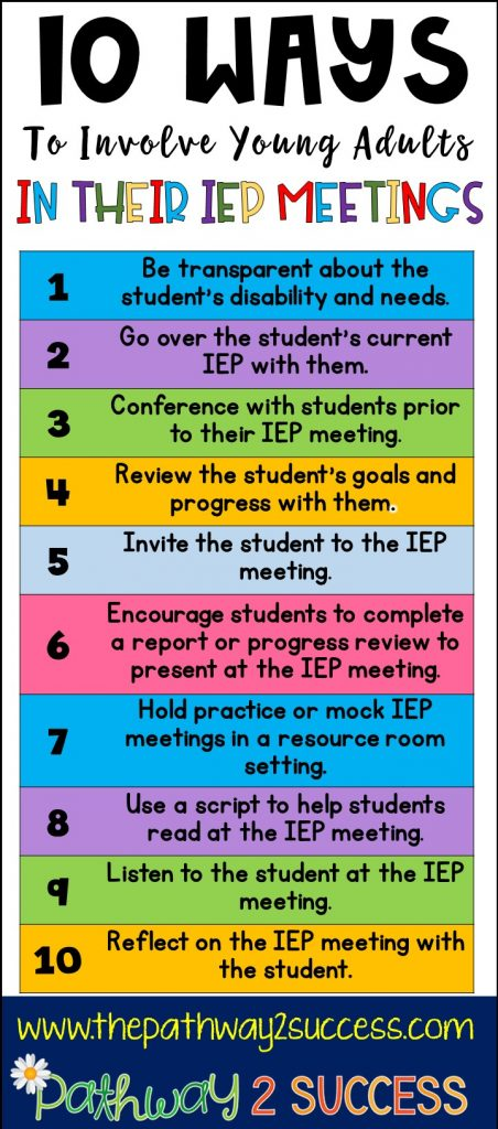 10 ways to involve young adults in their own IEP meetings