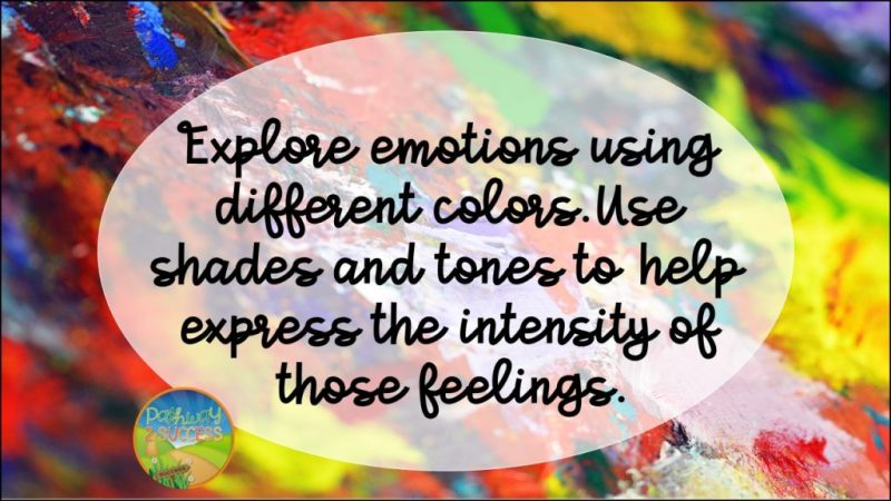 Art therapy activities - Explore emotions using different colors. Use shades and tones to help express the intensity of those feelings.