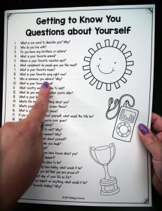 Free get to know you printable and more to help kids and young adults with social emotional learning skills. #sel #socialemotionallearning #pathway2success