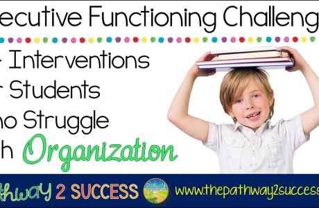 Interventions for Executive Functioning Challenges: Organization