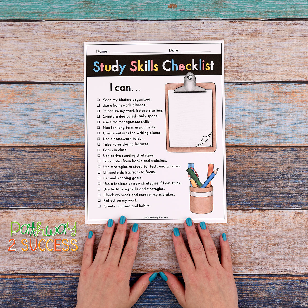 20+ strategies, ideas, and some free resources you can use to teach kids and young adults study strategies for academic success! Students at the middle and high school level need good study habits to do their best, including writing homework down, studying for tests, and staying organized. All teachers can give these a try! #studyskills #pathway2success