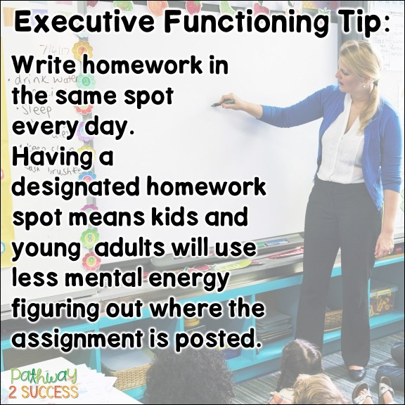 Over 15 strategies for executive functioning that all educators and teachers can use to help struggling students. Whether kids are having difficulty with attention, organization, self-control, or flexibility, these ideas and printable resources will help kids and teens find success in the classroom! #executivefunctioning #pathway2success