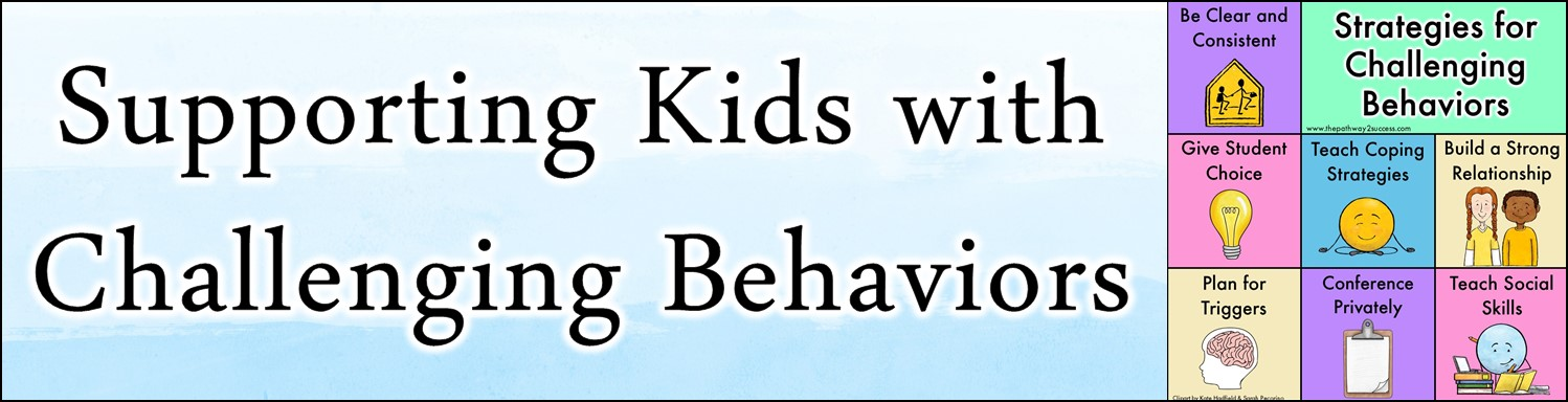Supporting kids and teens with challenging behaviors in the classroom. Teachers and parents can use this guide to come up with strategies and techniques to help when kids don't follow directions or act out in challenging ways. It also includes a link to a free cheat sheet! #pathway2success #behavior