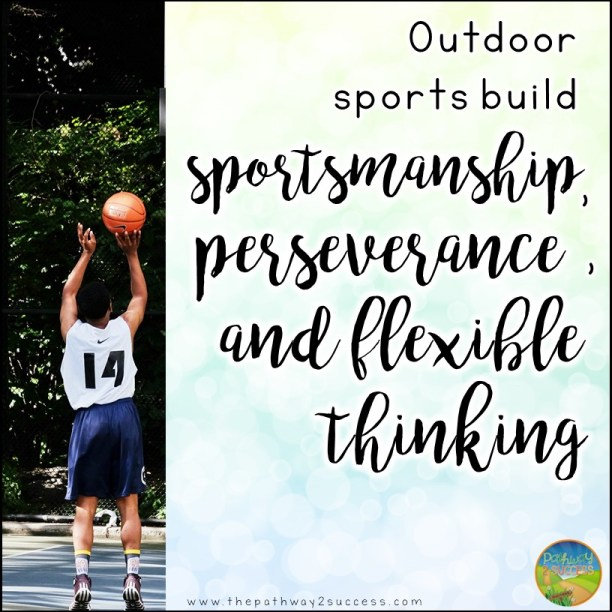 Outdoor activities to help build social skills including patience, attention, conversation skills, responsibility, and much more. Use these activities to help kids work on social emotional learning at home over the summer or anytime of year! #sel #socialskills #pathway2success