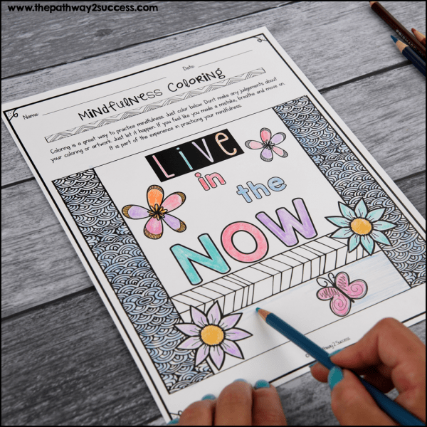 Coloring and drawing are often a favorite coping skill because they are simple and easy to try. It's important to mention that you don't need to consider yourself an artist to use coloring as a coping skill. Just color and be. Use these free printable mindful coloring pages to give it a try.