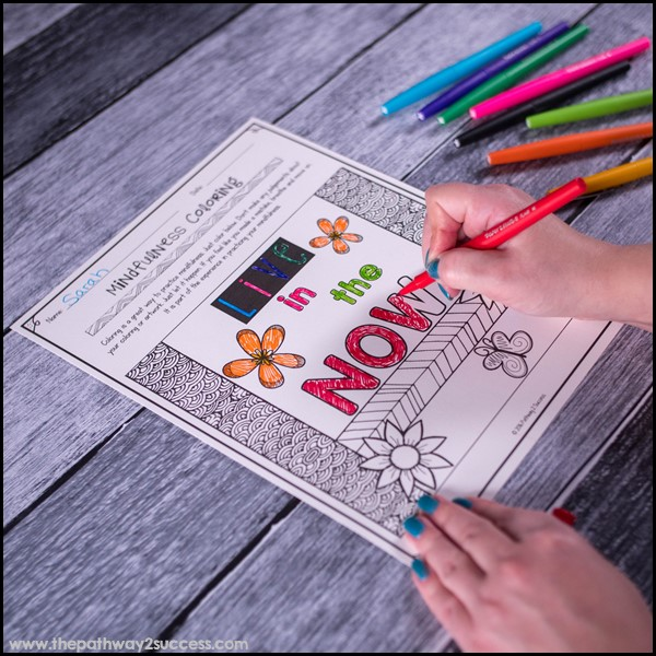 Free mindful coloring pages