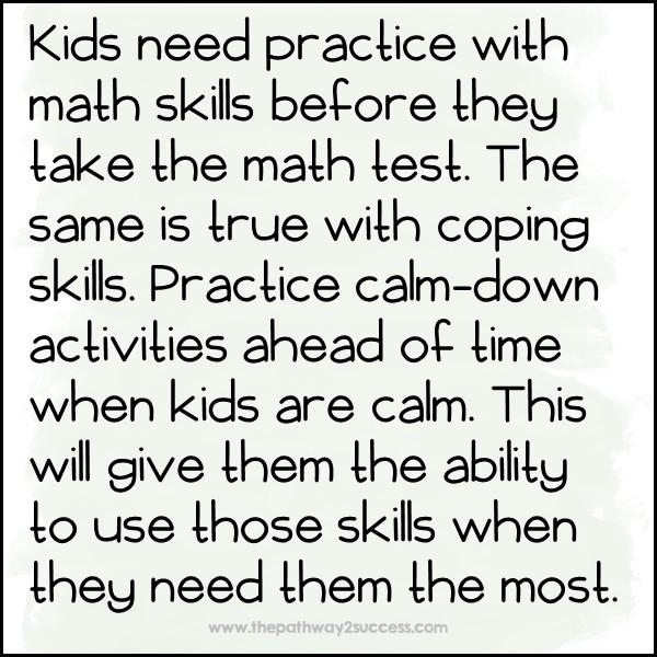 Practice coping strategies