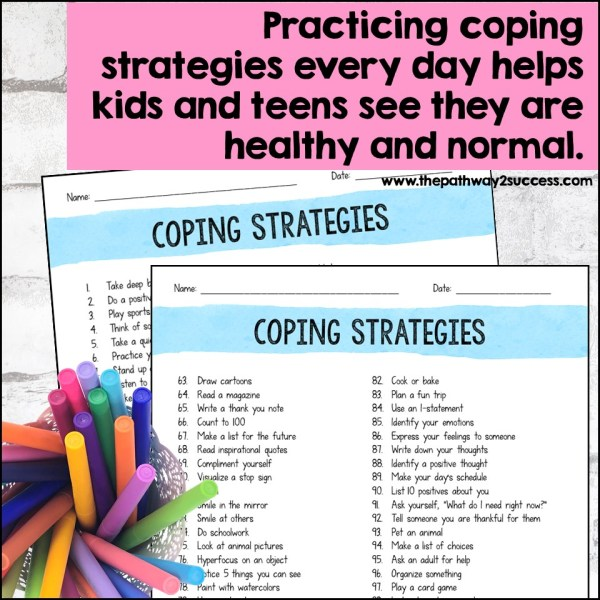 Printable coping strategies list