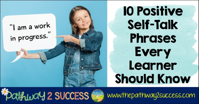 Positive self-talk statements for kids and teens